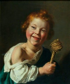 A Laughing Child Holding a Wicker Rattle | Salomon de Bray | Oil Painting