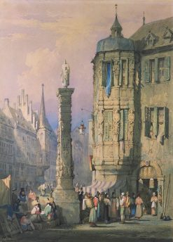 Bishop's Palace at Wurzburg | Samuel Prout | Oil Painting