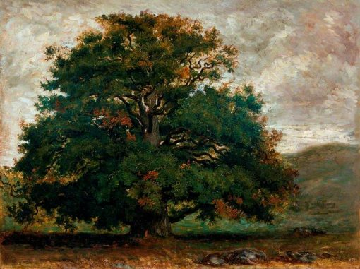 A Tree in Fontainebleau Forest | ThEodore Rousseau | Oil Painting