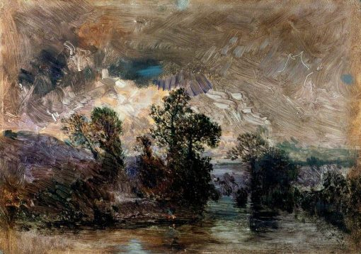 Landscape with a Stormy Sky | ThEodore Rousseau | Oil Painting