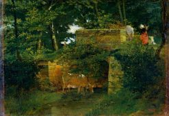 Pont de Batignies in the Forest of Compeigne | ThEodore Rousseau | Oil Painting