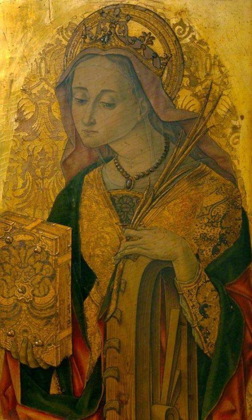 Saint Catherine   Vittore Crivelli   Oil Painting