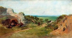 Landscape: The Gypsy Camp | William Collins | Oil Painting