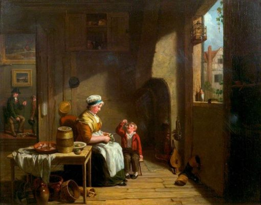 A Country Kitchen | William Collins | Oil Painting