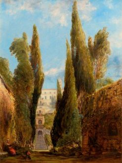 The Villa d'Este in Tivoli | William Collins | Oil Painting