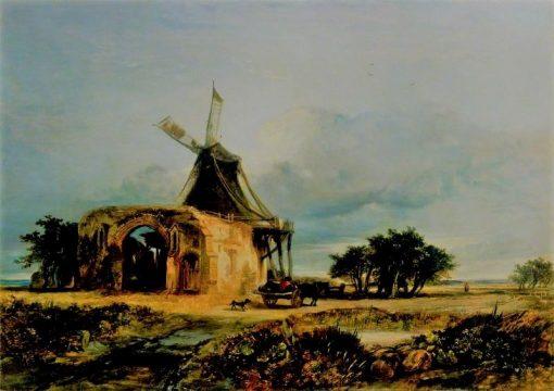St Benet's Abbey   William James Muller   Oil Painting