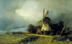 Coast Scene with a Windmill | William James Muller | Oil Painting