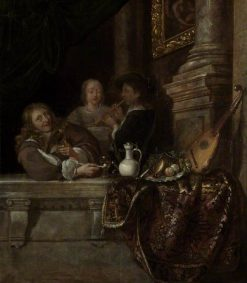 A Courtship | Frans van Mieris the Elder | Oil Painting