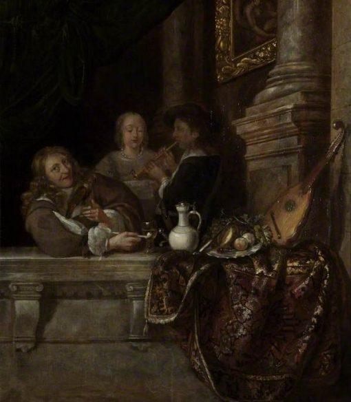 A Courtship | Frans van Mieris the Elder | Oil Painting
