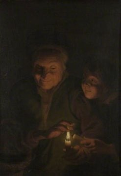 Woman and Child with Candle | Godfried Schalcken | Oil Painting