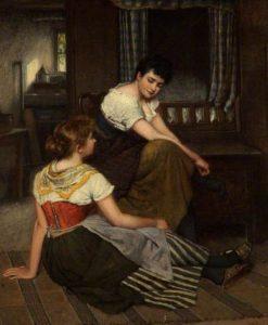 Morning Gossip | Haynes King | Oil Painting