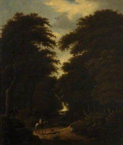 Forest Scene with Horseman | Jacob van Ruisdael | Oil Painting