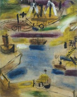 Small Harbour Scene | Paul Klee | Oil Painting