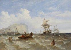 Pilot Boats off Dover | William Adolphus Knell | Oil Painting