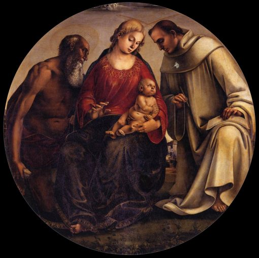 Virgin and Child with Saints Jerome and Bernard of Clairvaux | Luca Signorelli | Oil Painting