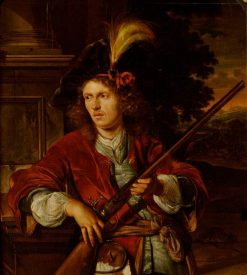 A Sportsman with a Gun | Adriaen van der Werff | Oil Painting