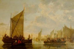 A Landing Party on the River Maas at Dordrecht | Aelbert Cuyp | Oil Painting