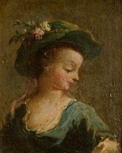 A Girl in a Hat in Profile and a Girl in a Hat Full Face (diptych