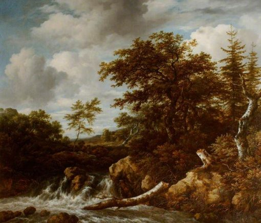 Wooded Landscape with a Waterfall | Jacob van Ruisdael | Oil Painting