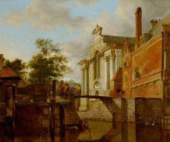 A Canal Junction near a Church | Jan van der Heyden | Oil Painting