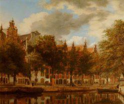 Amsterdam: Houses on the Herengracht | Jan van der Heyden | Oil Painting
