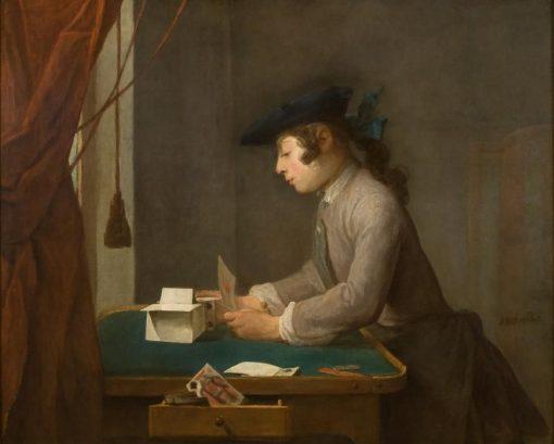 Boy Building a House of Cards | Jean Baptiste Simeon Chardin | Oil Painting