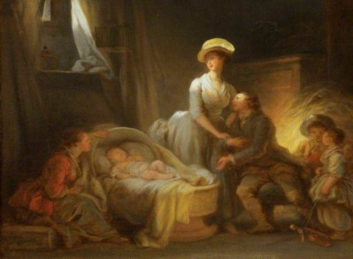 The Visit to the Wet Nurse | Jean HonorE Fragonard | Oil Painting