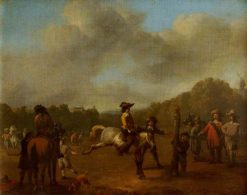 The Riding Lesson | Johannes Lingelbach | Oil Painting