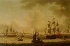 The 'Pearl' Frigate off Liverpool | John Thomas Serres | Oil Painting