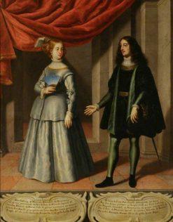 Costanza de Montcada and Diego Lopez III de Haro | Spanish School th Century   Unknown | Oil Painting