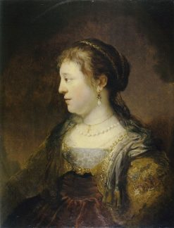 Portrait of a Woman in Profile | Govaert Flinck | Oil Painting