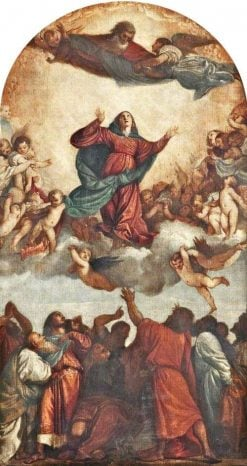 The Assumption of the Virgin (after Titian) | Alfred George Stevens | Oil Painting