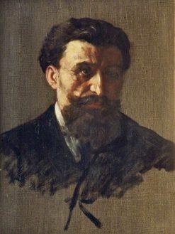 Study of a Head   Alphonse Legros   Oil Painting