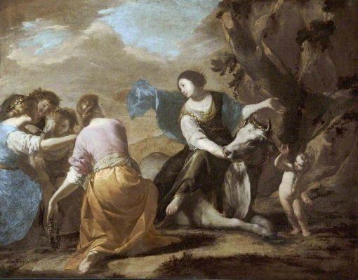 The Rape of Europa   Bernardo Cavallino   Oil Painting