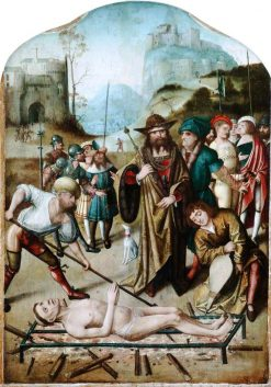 The Martyrdom of Saint Laurence   Dutch School th Century   Unknown   Oil Painting