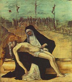 Pieta (Predella from the Stories of Christ) | Ercole de' Roberti | Oil Painting