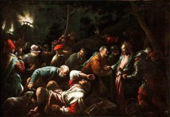 The Betrayal of Christ | Francesco Bassano the Younger | Oil Painting