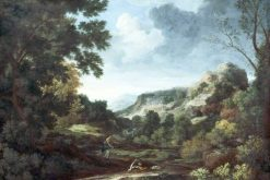 Landscape with Pyramus and Thisbe   Gaspard Dughet   Oil Painting