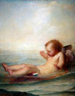 I'm Afloat   George Frederic Watts   Oil Painting