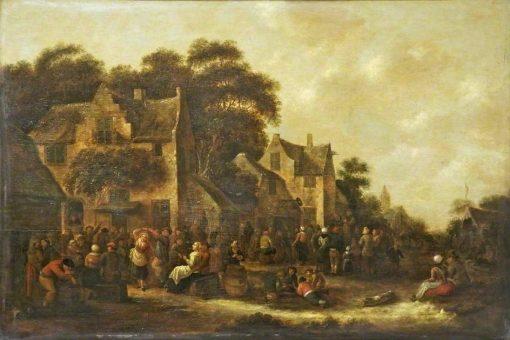 The Village Festival   Klaes Molenaer   Oil Painting