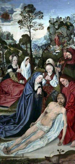 Scenes from Christ's Passion: The Lamentation over the Dead Christ   Master of the Aachen Altarpiece   Oil Painting