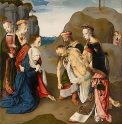 Lamentation over the Dead Christ | Master of the Virgo inter Virgines | Oil Painting