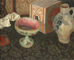 Still Life with a Biscuit Tin and Pots   Roger Eliot Fry   Oil Painting
