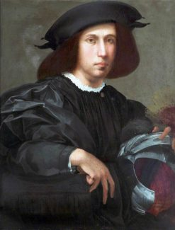 Portrait of a Young Man with a Helmet | Rosso Fiorentino | Oil Painting