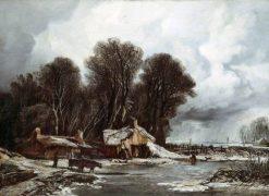 Landscape with Old Cottages