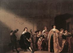 A Party Scene   Anthonie Palamedesz   Oil Painting