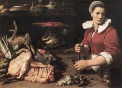 A Cook with Food | Frans Snyders | Oil Painting