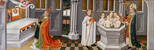 Legend of St Ursula: Arrival in Basel | German School th Century   Unknown | Oil Painting