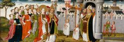 Legend of St Ursula: Arrival in Rome | German School th Century   Unknown | Oil Painting