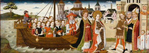 Legend of St Ursula: An Angel appears to the Pope at Prayer | German School th Century   Unknown | Oil Painting